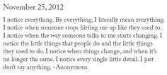 noticing.