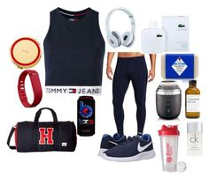 """""""EpiSEEN"""" by theezracole ❤ liked on Polyvore featuring Tommy Hilfiger, NIKE, Beats by Dr. Dre, Fitbit, Lacoste, Jack Black, Clarisonic, Kate Spade, Calvin Klein and men's fashion"""