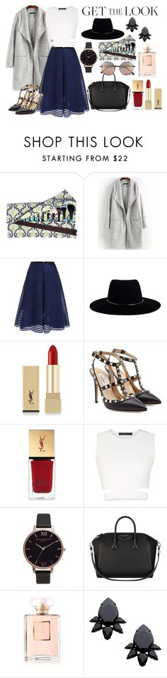 """""""Untitled #425"""" by oychanel ❤ liked on Polyvore featuring Zimmermann, Yves Saint Laurent, Valentino, BCBGMAXAZRIA, Olivia Burton, Givenchy, Chanel, Persy and Linda Farrow"""
