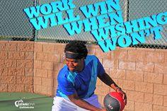 Work will win when wishing won't. #tennis #bornforthis