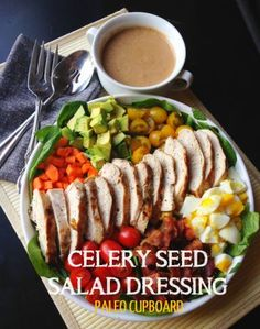 Paleo Celery Seed Salad Dressing and Cobb Salad Recipe - paleocupboard.com