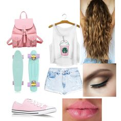 tumblr summer by annikasallie on Polyvore featuring polyvore fashion style MANGO Converse