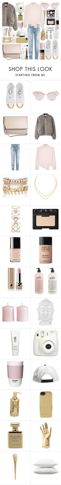 """""""it was you"""" by carolsx ❤ liked on Polyvore featuring adidas Originals, Givenchy, Acne Studios, Dsquared2, Alexander McQueen, River Island, Lana, Accessorize, Chanel and NARS Cosmetics"""
