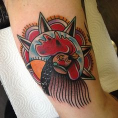 old school tattoo / traditional ink - cock