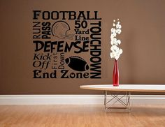 vinyl wall decal quote Football subway by WallDecalsAndQuotes, $24.95