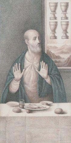 Four of Cups - Leonardo Da Vinci Tarot by by A. Atanassov, Iassen Ghiuselev