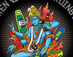 """Check out new work on my @Behance portfolio: """"Boarding Vishnu Tattoo Project"""" http://be.net/gallery/31823417/Boarding-Vishnu-Tattoo-Project"""