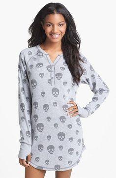 PJ Salvage Brushed Thermal Sleep Shirt available at Just love the style Pyjamas, Pjs, Pijamas Women, Skull Fashion, Cute Pajamas, Sleep Shirt, Night Gown, Night Suit, Nightwear
