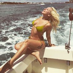 Pin for Later: Celebrity Summer Holidays That Are Sure to Make You Jealous Lady Gaga Lady Gaga let the wind blow through her hair during a sexy trip to the Bahamas.