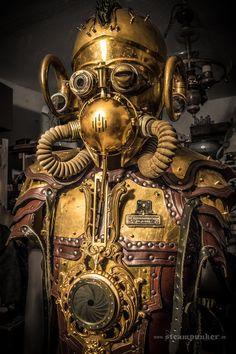 Steampunk costume - warrior by steamworker on DeviantArt Steampunk Kunst, Chat Steampunk, Corset Steampunk, Steampunk Images, Steampunk Artwork, Mode Steampunk, Style Steampunk, Steampunk Design, Steampunk Costume