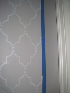 Project Nursery - Stencil work