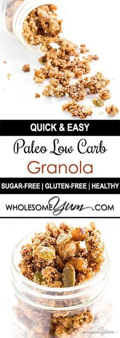 Keto cereal breakfast crunch sugar free gluten free recipe low carb granola cereal paleo gluten free sugar free ccuart Choice Image
