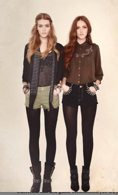 #indie #style #fashion love both the outfits, mostly the right but it's a little dark