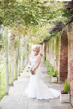 Stella York Lace Dress Gown Bride Bridal Beautiful Country House Wedding http://www.fionasweddingphotography.co.uk/
