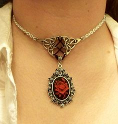 Corset-style cameo necklace    Buy it here: https://www.etsy.com/listing/72583466/gothic-celtic-corset-style-rose-cameo