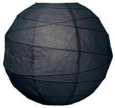 Black 14 Inch Premium Round Paper Lantern by Luna Bazaar. $5.50. This black paper lantern is made with the finest quality rice paper and bamboo freestyle ribbing. As with all our premium paper lanterns, they can be used with most ceiling fixtures and with most light cords for hanging lanterns. They can also be used with our LED battery lights as convenient, cord-free lighting and decoration for parties, weddings, patios, gardens, and outdoor celebrations. (Pleas...