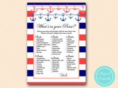 what's in your purse purse game purse raid  by MagicalPrintable