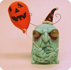 lowbrow art sculpture Halloween Party bug ooak art by mealymonster
