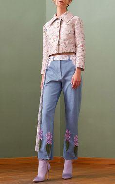 Floral Jacquard Breasted Jacket by GIUSEPPE DI MORABITO for Preorder on Moda Operandi