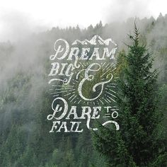 Best of Omatype // 2 by Nicolas Fredrickson. Dream big & dare to fail Typography Love, Typography Quotes, Typography Inspiration, Typography Letters, Graphic Design Typography, Lettering Design, Hand Drawn Type, Words Quotes, Sayings