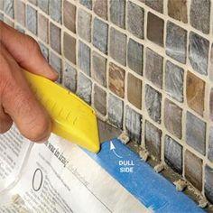 DIY Tile backsplash for the kitchen or bathrooms!