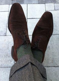 Brown Suede Oxford