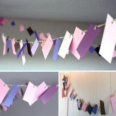 scrap paper garlands