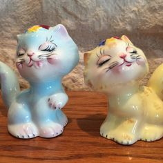 Vintage Norcrest PY Cat Salt and Pepper Shakers by BobsGoodJunk
