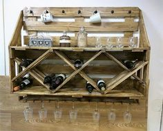 First of all, we have presented an idea which is perfect for the person who drinks often and he/she requires a rack in which the bottles can be placed without leaving them to create a mess. So, this idea of bottles rack is awesome to store the bottles and the place available over the bottle placement area can be used for placing the decorative items.