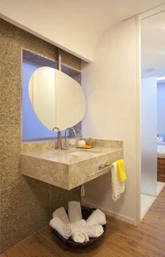 Banheiro com piso vinílico