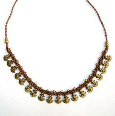 Necklace Brass Macrame Tribal Brown от MagicKnots на Etsy, €22.00