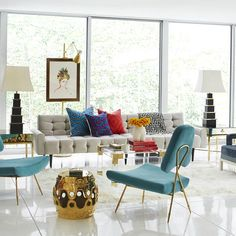 Interior Design: Jonathan Adler ecletic design contemporary lighting lamps #interiordesign See more: http://contemporarylighting.eu/2016/01/16/find-out-the-best-sites-to-buy-contemporary-lighting-online/