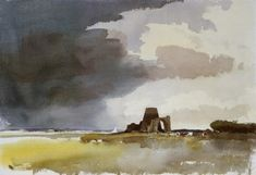 """Edward Seago, British 1910 – 1974. """"After Storm, St. Benet's Abbey"""". The Norfolk Broads."""
