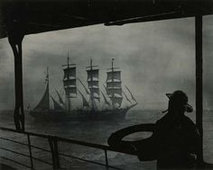 sailor looking at a clipper ship, 1940. http://www.mutualart.com/Artwork/Sailor-looking-at-clipper-ship/58CF27868C533EA1