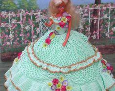 Crochet moda muñeca Barbie patrón 413 por JudysDollPatterns
