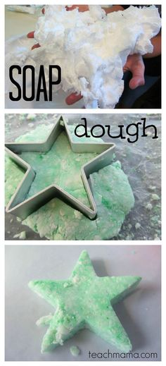 SUPER indoor activity for cold winter days...soap dough! Just one ingredient makes this fun soap recipe! This fun activity for kids will be not only a super fun activity, but also a great science experiment for the kids! #teachmama #activitiesforkids #kidsactivity #kids #science #educational #kidscraftideas #diy