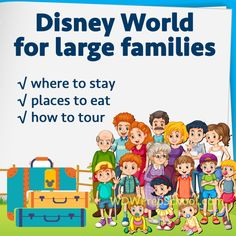 Doing Disney World with large families - Where to stay, where to eat, discounts + general advice for touring