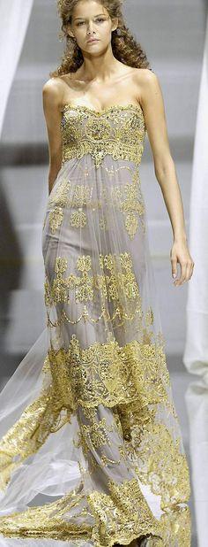 Zuhair Murad. jean dress#2dayslook #kathyna257892#jeansfashion ww.2dayslook.com