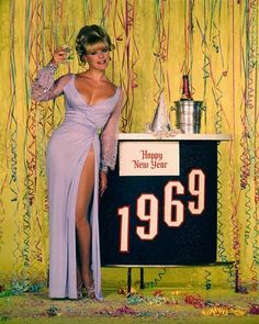 Elke Sommer models for New Year 69
