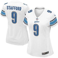 Women's Nike Detroit Lions #9 Matthew Stafford Elite White Jersey $109.99