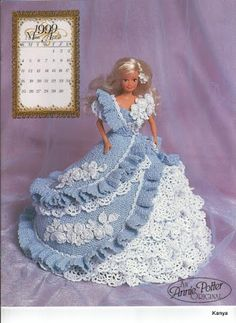 Annies Attic 1999 Bridal Dreams Barbie Fashion April Crochet Bed Doll Pattern in Crafts, Needlecrafts & Yarn, Crocheting & Knitting Crochet Doll Dress, Crochet Barbie Clothes, Crochet Doll Pattern, Crochet Patterns, Barbie Gowns, Barbie Dress, Barbie Doll, Barbie Clothes Patterns, Doll Costume
