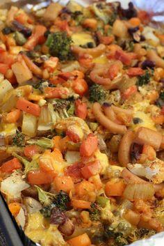 Vegan cheezy vegetable bake #Vegan