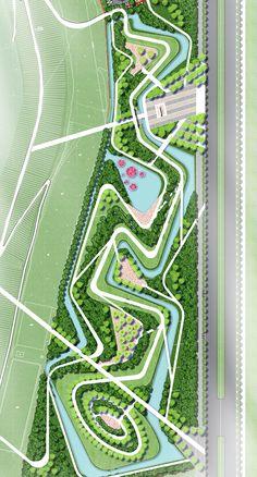 Michael Eastwood Landscape Plane, Landscape Concept, Landscape Model, Landscape Sketch, Urban Landscape, Landscape Architecture Design, Architecture Plan, Landscape Design Plans, Lanscape Design
