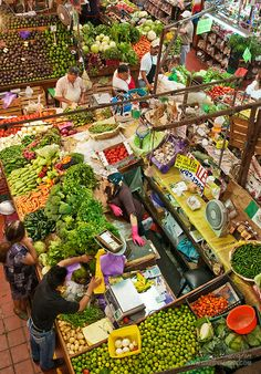 Produce stand at Mercado Libertad, Guadalajara, Mexico.