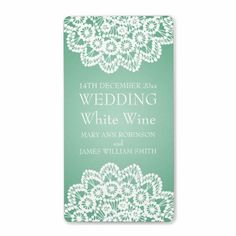 >>>Order          Elegant Wedding Wine Label Vintage Lace Mint Green           Elegant Wedding Wine Label Vintage Lace Mint Green This site is will advise you where to buyReview          Elegant Wedding Wine Label Vintage Lace Mint Green Online Secure Check out Quick and Easy...Cleck Hot Deals >>> http://www.zazzle.com/elegant_wedding_wine_label_vintage_lace_mint_green-106476333942086282?rf=238627982471231924&zbar=1&tc=terrest