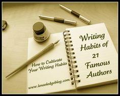 Writing Habits of 21 Famous Authors