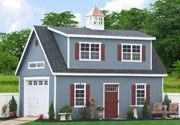 Make more space for your life with Prefab Car Garages by the Amish. Buy direct from the prefab garage builders in Lancaster. Garage Plans With Loft, Garage Loft, Garage Shed, Car Garage, Garage Ideas, Garage Storage, Garage Apartment Plans, Garage Apartments, Apartment Ideas