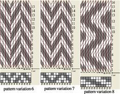 Designing tablet weaving patterns - maybe be able to weave herringbone on a card loom? Inkle Weaving, Inkle Loom, Card Weaving, Basket Weaving, Braid Patterns, Loom Patterns, Tablet Weaving Patterns, Finger Weaving, Mochila Crochet