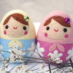 Felt babushka dolls - might have to try to make some of these