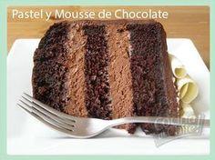 Pastel y mousse de chocolate